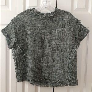 Tops - Short sleeve tweed top